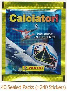 Panini Calciatori 2019/20 19/20 - 40 Sealed Sticker Packs