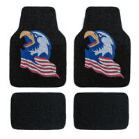 Universal Waterproof Eagle Coil Car Floor Mats Durable For SUV Van Sedan 4 PCS