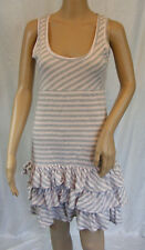 ★ BROADWAY★ XS / 34 ~  Kleid ~ Sommerkleid im Streifenlook ~ Volants Shirtkleid