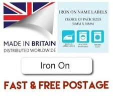 Printed iron-on School Care Home Name Tapes Name Tags Labels - Quality Labels