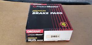 Friction Master Organic Brake Pads D163A NOS