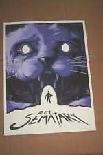 Pet Sematary Mathew Johnson Limited Edition Art Screen Print Poster Stephen King