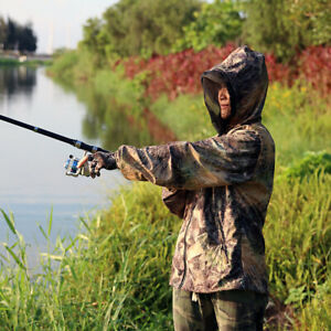 Spring Summer Bionic Grass Camo Hunting Ghillie Suit Anti-mosquito Breathable