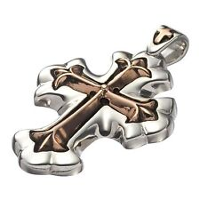 Large Lord Camelot Golden Patonce Cross Royal Silver Pendant (Silver 925)