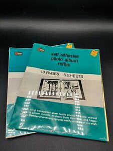 """VTG Self Adhesive 20 Pages 3 Ring Magnetic Photo Album Refill Up to 8X10"""" Unused"""