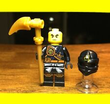 LEGO NINJAGO COLE KNEE PADS w/ Pearl Gold Barb GENUINE AUTHENTIC MINIFIGURE RARE