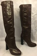 BELLE by SIGERSON MORRISON Brown Knee-High Leather Boots Heels womens 6.5 B