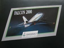 AUTOCOLLANT STICKER AUFKLEBER DASSAULT AVIATION FALCON 2000 BIZJET BOURGET 1991