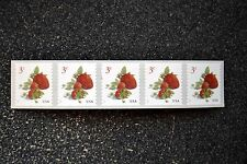 2017USA 3c Strawberries - Coil Strip of 5 -  Mint  NH    strawberry fruit