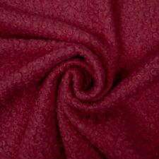 New listing Superior Boucle with Felted Back - Deep Red - Fabric Jersey Jacketing
