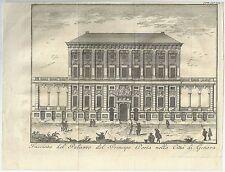 1751 GENOVA Salmon Facciata del palazzo del Principe Doria
