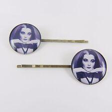 LILY MUNSTER HAIR SLIDES kitsch vintage retro horror goth psychobilly vampire