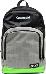 Factory Effex Licensed Kawasaki Standard Backpack Black Gray Green 23-89110