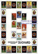 Suchard Schokolade XL Reklame 1914 extrem selten ca. 12 Werbungen in Einer