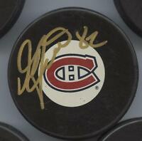 DONALD AUDETTE SIGNED MONTREAL CANADIENS HOCKEY PUCK w/ COA