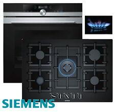Siemens Gas Herdset Einbau Autark 4D Backofen + Gas Kochfeld Glaskeramik 75cm