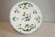 Assiette maître d'hôtel  en faïence de Gien, Oiseaux de Paradis  26.5 cm ( N°1 )