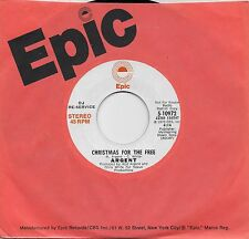 ARGENT  Christmas For The Free  rare promo 45 from 1973  THE ZOMBIES