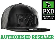 FXD CP-6 STARTER CAP BRAND NEW BLACK SNAP BACK CAP HAT FLAT PEAK