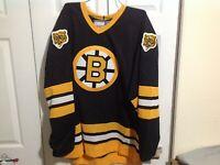 Boston Bruins Factory Sealed NWT 82-95 Black Vintage CCM Size XL Jersey