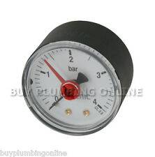 """Altecnic Pressure Gauge 1/4"""" Back Connection 0-4 Bar 557104"""