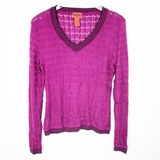 2ef4f4de12 Missoni For Target Womens Sweater Top Size XL Pink Knit V-neck Rayon