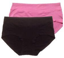 2x, 3x Women's Bamboo Panties Mid-Waist Brief Ladies Underwear Size 10-14 Black