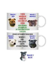 STAFFIE DOG PESONALISED/FUNNY/OWN PHOTO MUG