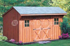 6' x 12' Classic Saltbox Style Storage Shed Plans, Material List Included #70612