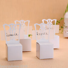 100*white chair Bomboniere Boxes/Place card Wedding