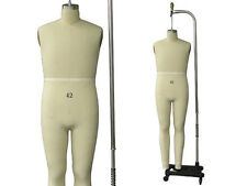 Professional Pro Male Working dress form,Mannequin,Full Size 42, w/Legs