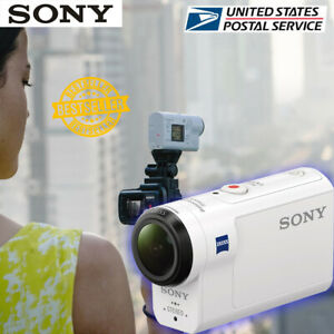 NEW 2021 Sony HDR-AS300R HD Action Camera with LiveView Remote Kit White
