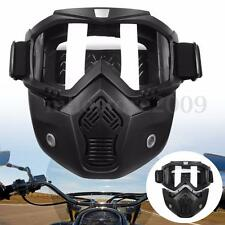 Detachable Modular Motorcycle Helmet Face Protective Mask Shield Clear Goggles