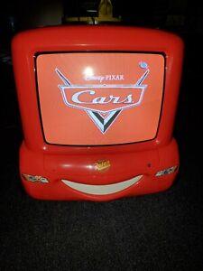 """DISNEY CARS TV (w/ORGINIAL B lightning mcqueen retro gaming 13"""" CRT TV no remote"""