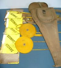 WW2 US ORIGINAL MINE MARKING SET DANGER FLAG KIT POUCH MINEFIELDS ENGINEERS LAND