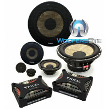 "FOCAL PS-165F3 6.5"" FLAX 80W RMS 3WAY COMPONENT SPEAKERS TWEETERS CROSSOVERS NEW"