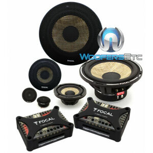 """FOCAL PS-165F3 6.5"""" FLAX 80W RMS 3WAY COMPONENT SPEAKERS TWEETERS CROSSOVERS NEW"""