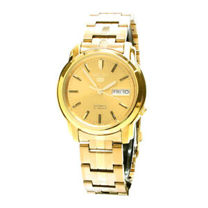 Seiko Analog Business 5 Automatic Gold Mens SNKK76K1