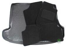 HYUNDAI i30 CW 5 DR ESTATE 2007-12 Tailored black floor car mats + boot tray mat