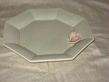 Fitz & Floyd Octagon Shape Salad Plate, Pink Seashell / Shell Decorative