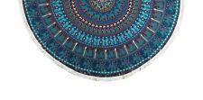Indian cotton mandala table cloth round wall hanging hippie blanket beach throw