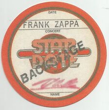 Back Stage Pass * by Frank Zappa