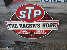 STP Racers Edge Metal MOTOR OIL Garage Gas Man Cave Shop Garage Texaco Standard