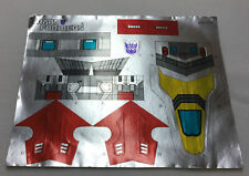 1987 Transformers unused decal sticker sheet ~ Terrorcon HUN-GURRR