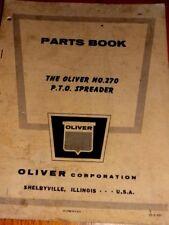 Oliver Parts Book The Oliver No.270 P.T.O. Spreader