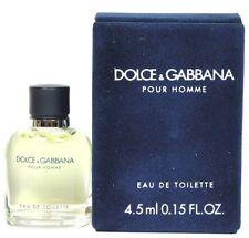 Dolce & Gabbana Pour Homme 0.15oz Mini Edt Splash For Men New In Box