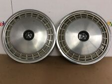 1983 - 1987 Dodge Aries Plymouth Reliant PAIR 13 inch hubcaps wheel covers OEM