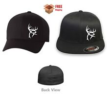 DEER HUNTING BUCK Flex Fit HAT CURVED or FLAT BILL *FREE SHIPPING in BOX*