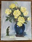 Vintage Oil Painting Floral Oil on Board