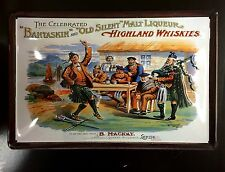 BANTASKIN & OLD SILENT HIGHLAND WHISKIES Embossed Metal Pub Sign - Scotch Whisky